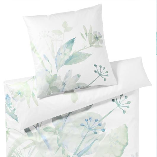 Elegante Softart virág mintás ágyneműhuzat menta