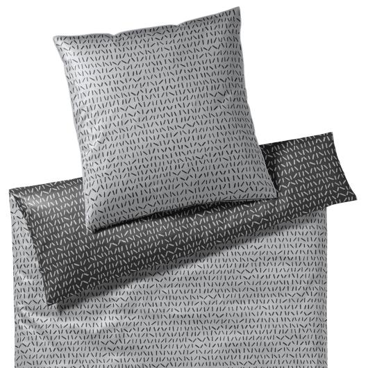 Elegante Code ezüst-fekete ágyneműhuzat