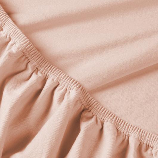 Billerbeck REBEKA elasztikus jersey lepedő – Epres krémes